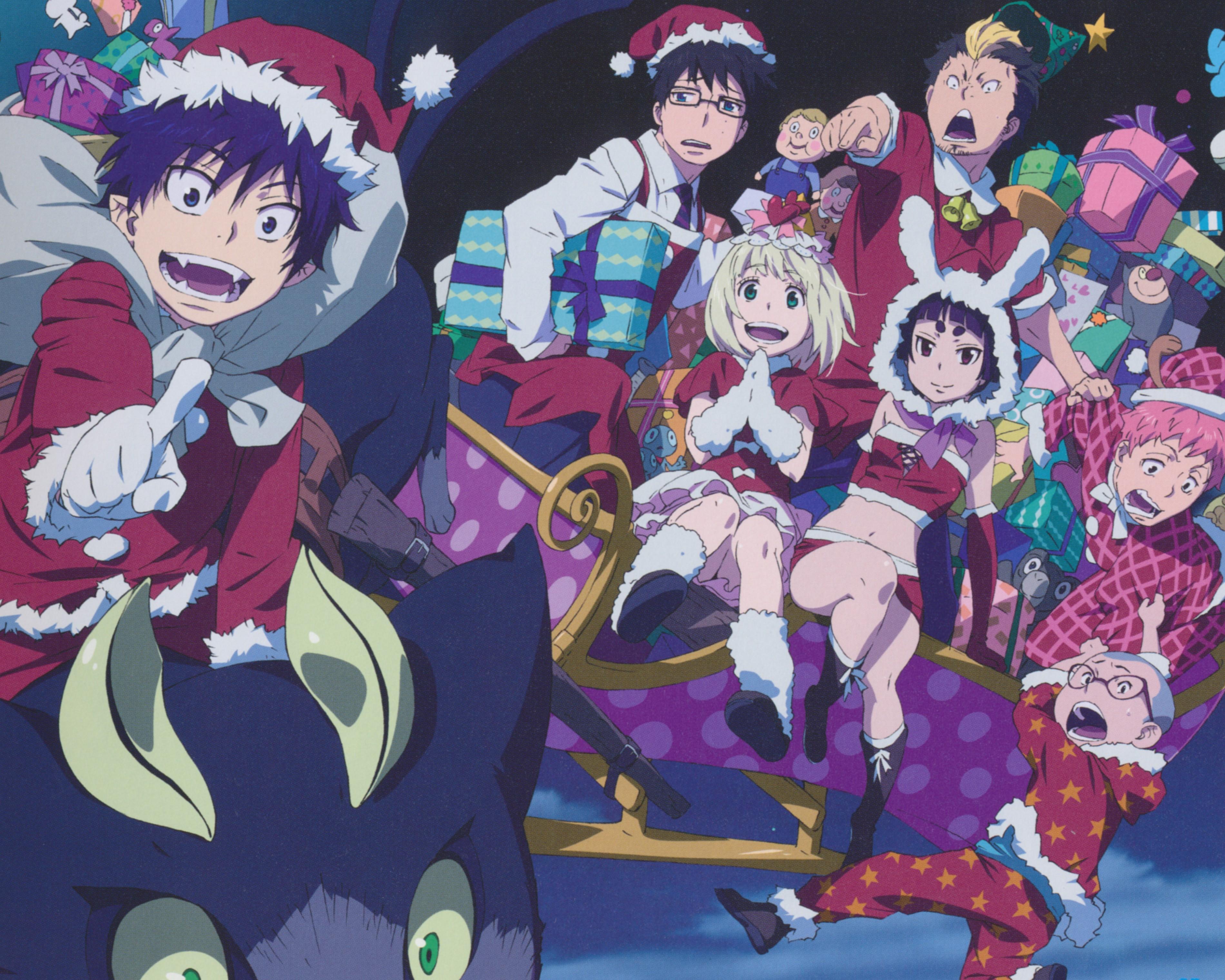 Ao no exorcist christmas 1280x1024 - Anime christmas wallpaper ...